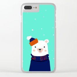 hare and bear Clear iPhone Case