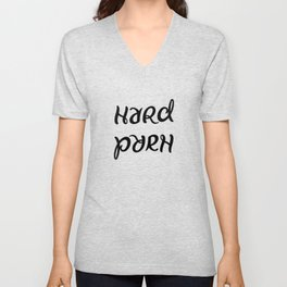 Funny hard porn ambigram Unisex V-Neck