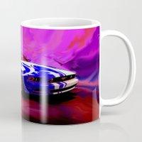 mustang Mugs featuring Wild Mustang by JT Digital Art
