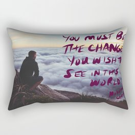 youmustbethechange Rectangular Pillow
