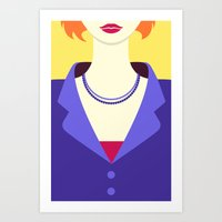 sex and the city Art Prints featuring Sex and the City Busts - Miranda by Caley Ostrander