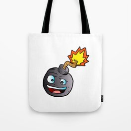 bomb explosive character mascot Tote Bag