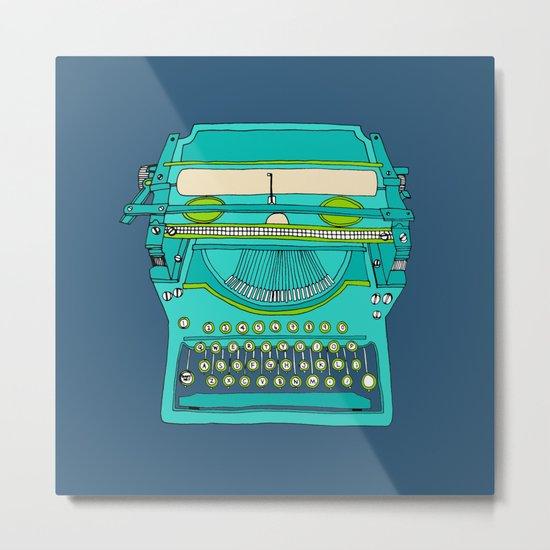 Typewriter Number Five Metal Print