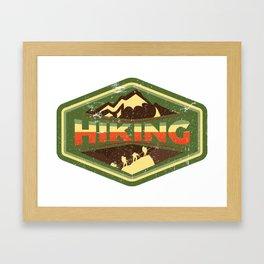 Hiking Is Freedom Framed Art Print