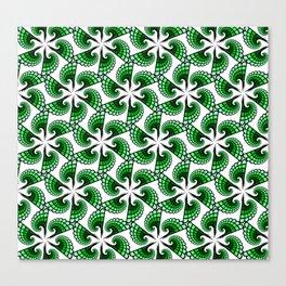 Beautful whirling green spirals Canvas Print
