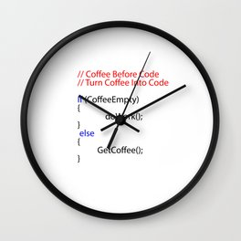 Coffee and Coding Gift idea  Programmers Wall Clock