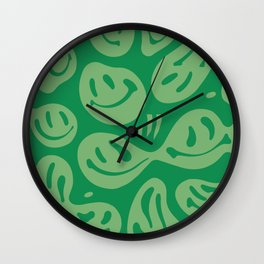Liquify Money Green Wall Clock