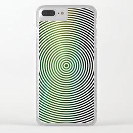 Vertigo With Green Clear iPhone Case