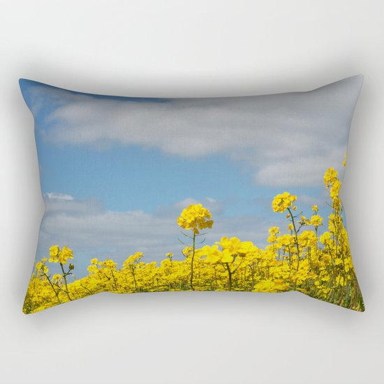 Rape yellow flowers Rectangular Pillow