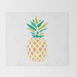Summer Pineapple Throw Blanket