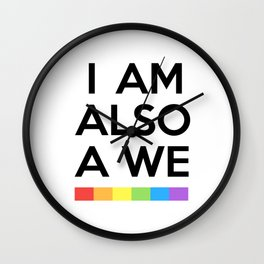 I AM ALSO WE - SENSE 8 Wall Clock