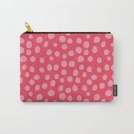 Sun Circles in Red and Pink Carry-All Pouch