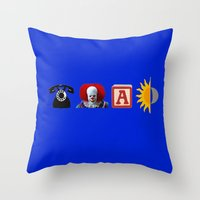 pennywise Throw Pillows featuring Call IT A Day by Rachcox