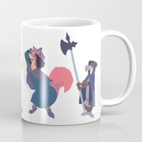 robin hood Mugs featuring The many disguises of Robin Hood by Bruno Gabrielli