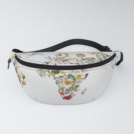 Vintage Botanical World Grey Fanny Pack