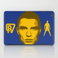 ronaldo iPad Cases featuring Christiano Ronaldo - The Sultan of the Stepover by Marc Dahl