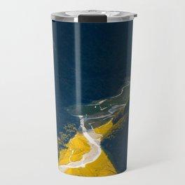 Landscape Photography Mountain Valley Stream Morning Sunlight Travel Mug