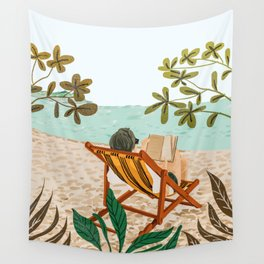 Vacay Book Club #illustration #tropical Wall Tapestry