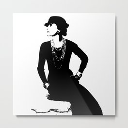 Mademoiselle Coco   Metal Print