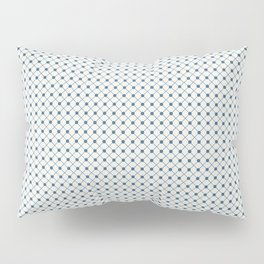 Blue Angled Polka Dot Grid Line Pattern on Off White - 2020 Color of the Year Chinese Porcelain Pillow Sham