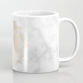 Marble Gold Mandala Design Coffee Mug
