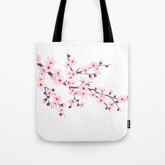Cherry Blossom Pink White Tote Bag