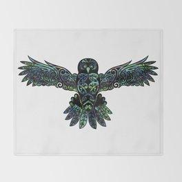 Morepork Throw Blanket