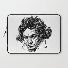 Ludwig Van Beethoven line drawing Laptop Sleeve