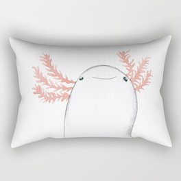 Axolotl Close-Up Rectangular Pillow