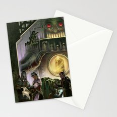 Steam Dungeons and Electric Treasure Stationery Cards