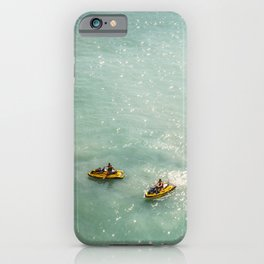 Jet Ski Friends in the Ocean | Paradise | Beach Mood | Aerial Photography | Ocean Print iPhone Case