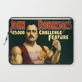 Louis Cyr, Strongest Man on Earth Laptop Sleeve