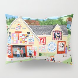 The Calico Cat Quilt Shop Pillow Sham