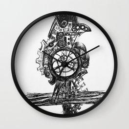 Steampunk Raven Wall Clock