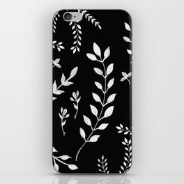 White Leaves Pattern #3 #drawing #decor #art #society6 iPhone Skin