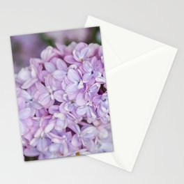Purple lilac flower Stationery Cards