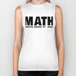 Maths Abbreviation Students Uni Sarcasm Gift Biker Tank
