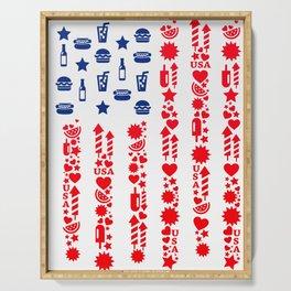 Fourth Of July Celebration USA Flag Serving Tray