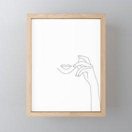 Hands line drawing illustration - Greta Framed Mini Art Print