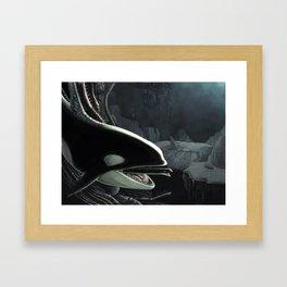 Whalien Framed Art Print