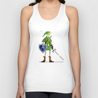 pixel Tank Tops featuring Pixel Link by Michael B. Myers Jr.