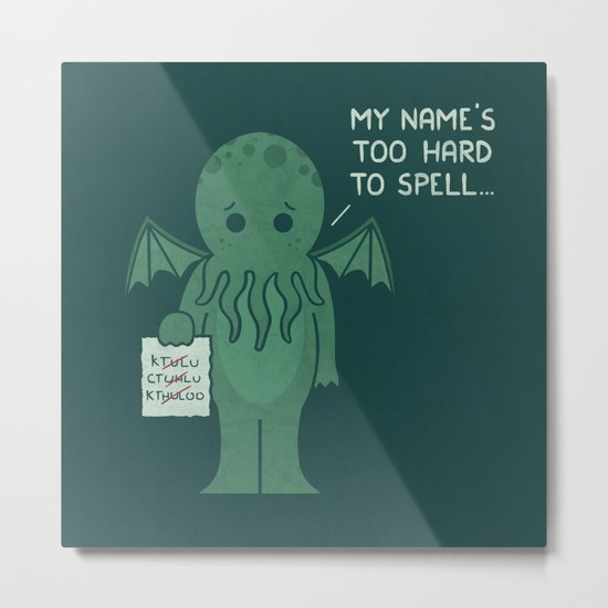 Monster Issues - Cthulhu Metal Print