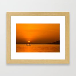 Jinja Sunrise Framed Art Print