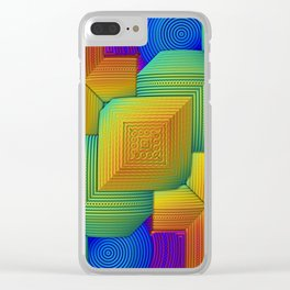 Color Patchwork Clear iPhone Case
