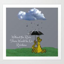 Raining Rainbow Dragon Art Print