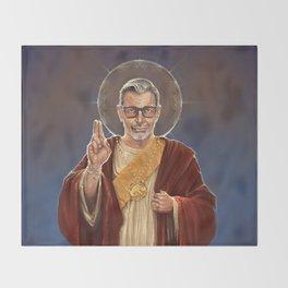 Saint Jeff of Goldblum Throw Blanket