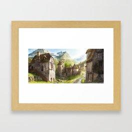 animation 2D view post Framed Art Print