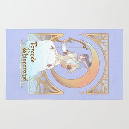 Art Nouveau Moon Goddess Rug