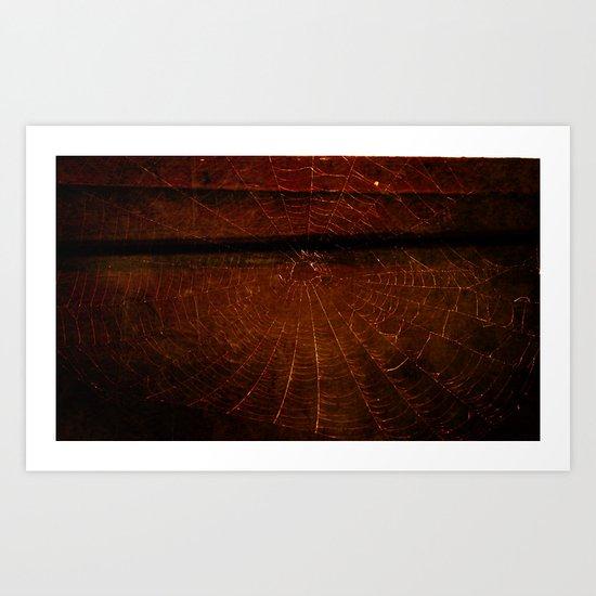 What a Dark Web We Weave Art Print