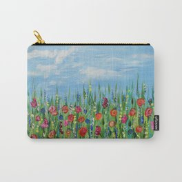 Summer Wildflowers, Landscape Art with Flowers Carry-All Pouch